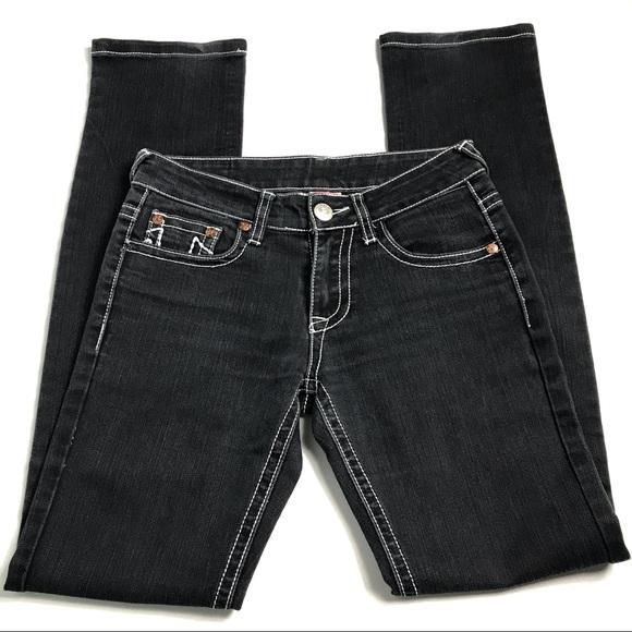 True Religion Black Gray Skinny Jeans